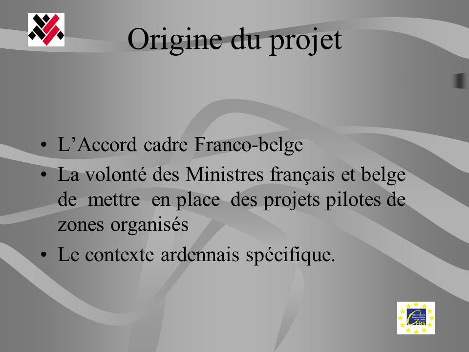 Origine du projet LAccord cadre Franco-belge La volonté des Ministres français et belge de mettre en place des projets pilotes de zones organisés Le c