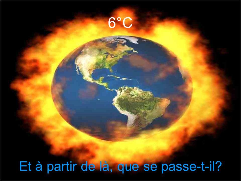 4 à 5 °C Les ressources en nourriture sont insuffisantes Déplacements massifs des populations Les forêts vierges ont brûlé et sont devenues des désert