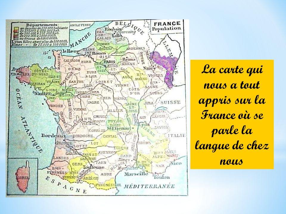 La carte qui nous a tout appris sur la France où se parle la langue de chez nous