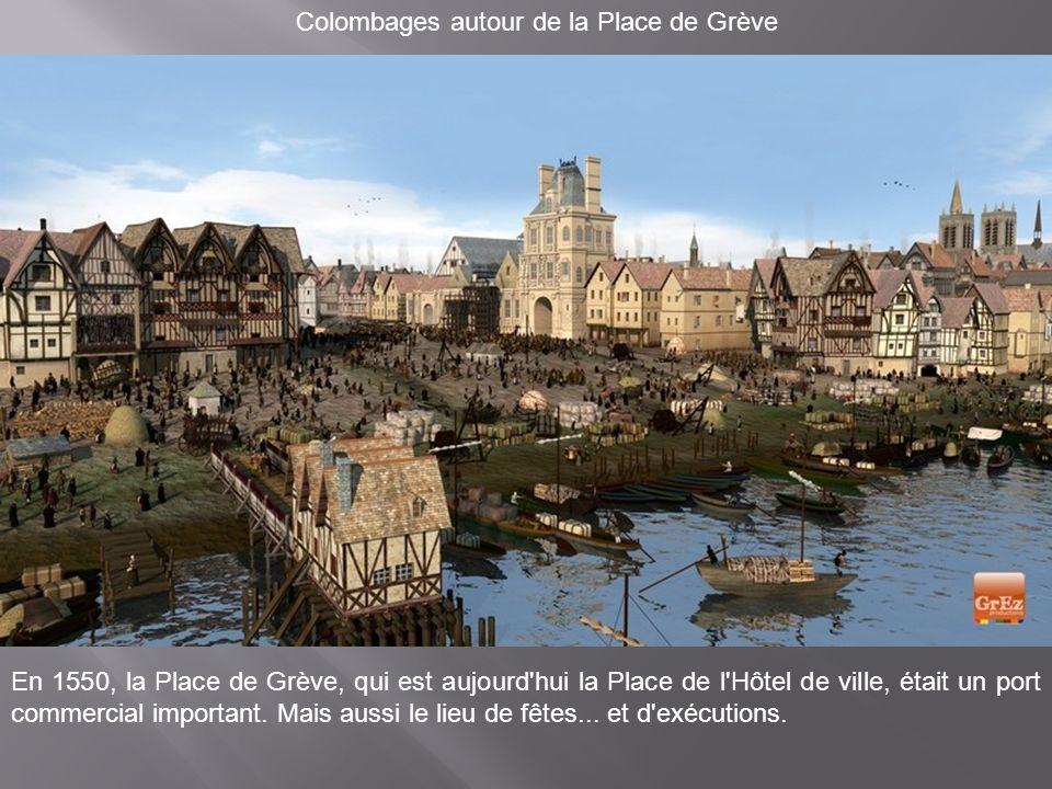 Au fil de l'eau, côté Marché-Neuf A gauche sur cette image, le Marché-Neuf et ses deux halles. Aujourd'hui, la Préfecture de police a pris place à cet
