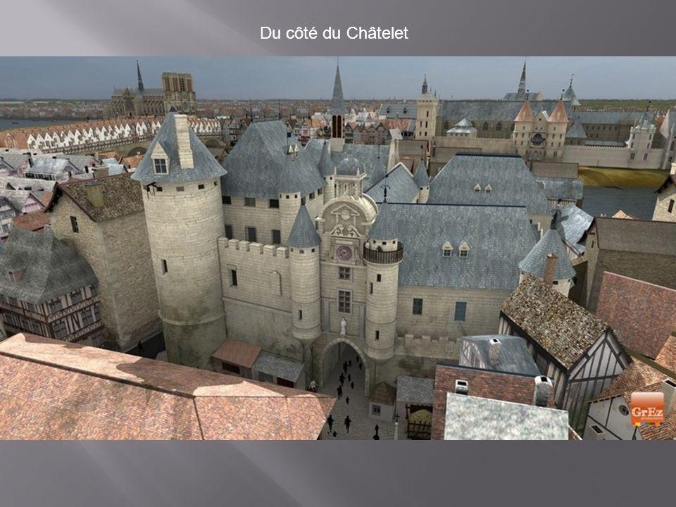 Colombages autour de la Place de Grève En 1550, la Place de Grève, qui est aujourd'hui la Place de l'Hôtel de ville, était un port commercial importan