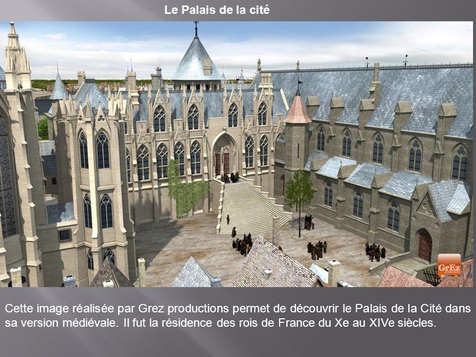 Le jardin du roi Cette image de synthèse permet de découvrir le jardin du roi sur l'Ile de la Cité : son verger s'étendait devant ses appartements.
