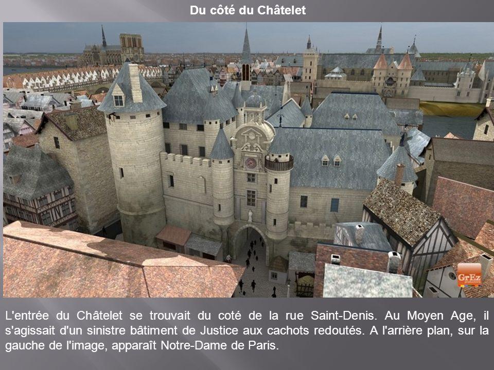 une vue de La Bastille. A droite la Porte Saint- Antoine Le forteresse de la Bastille