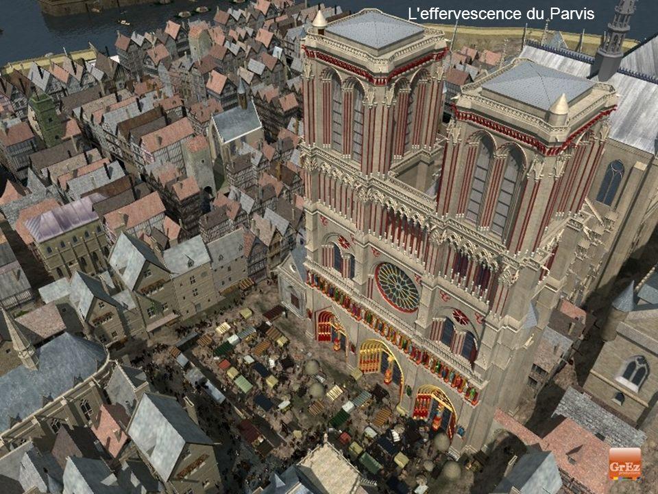 Depuis la rue Neuve Impressionnante cathédrale. Mais les auteurs de cette image de synthèse précisent :