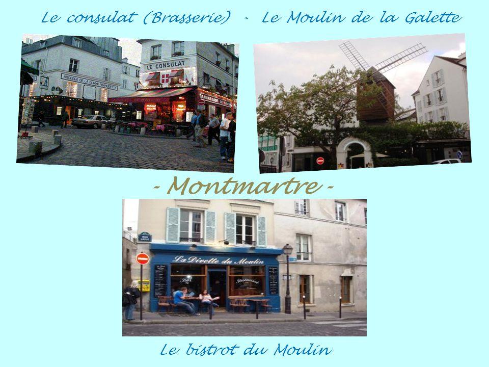 Au clairon des chasseurs - Au Lapin Agile (Cabaret) Le Bateau Lavoir - Épicerie rue des 3 Frères Montmartre