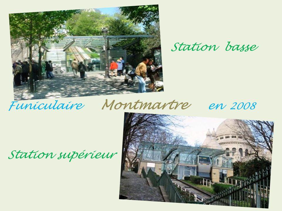 Le Sacré-Cœur et Le Funiculaire vers 1905 Rue Lepic vers 1925