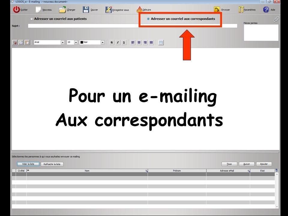 En premier on va sélectionner les correspondants qui recevront le mailing Clic sur Ajouter