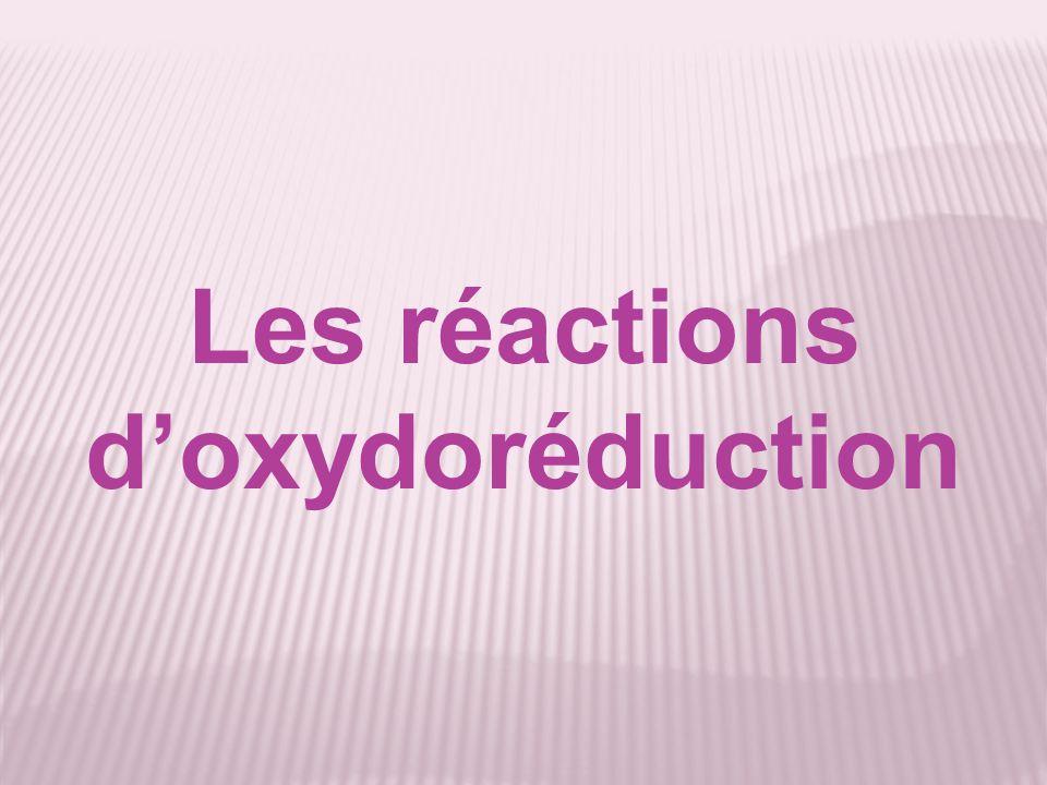 Les réactions doxydoréduction