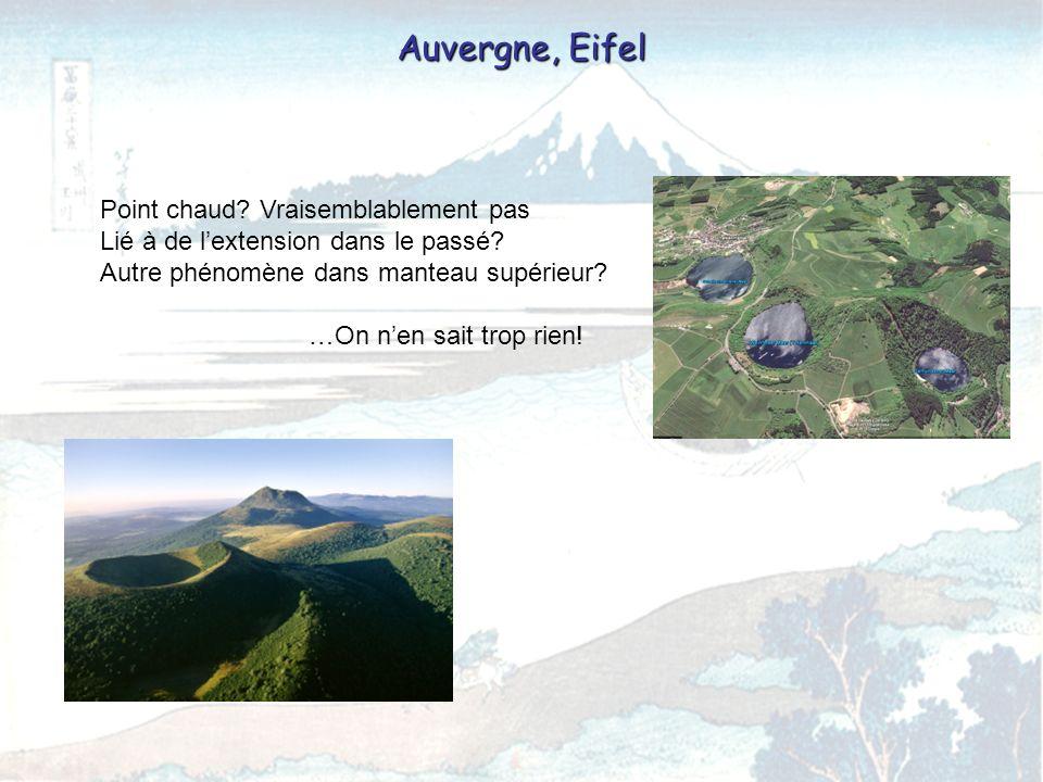 Quelques éruptions Laki, Islande, 1783 9300 morts, brouillard sulfureux sur lEurope + Révolution française.
