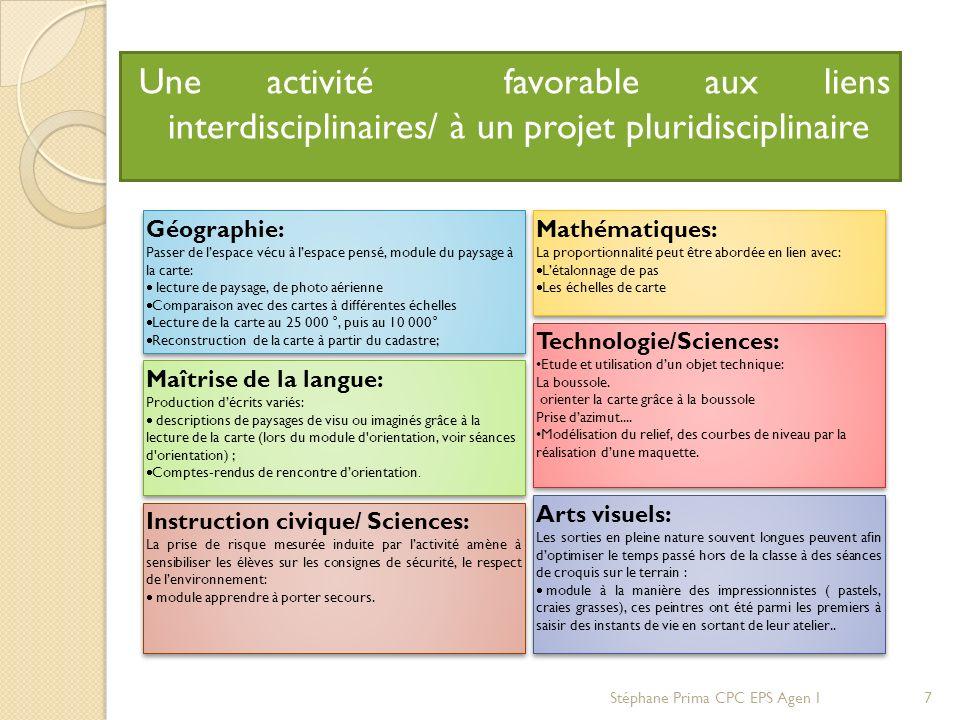 Une activité favorable aux liens interdisciplinaires/ à un projet pluridisciplinaire Mathématiques: La proportionnalité peut être abordée en lien avec
