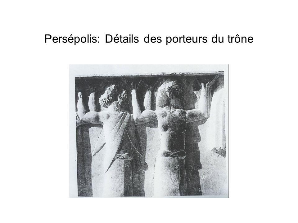 Persépolis: Détails des porteurs du trône