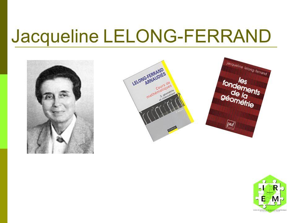 Jacqueline LELONG-FERRAND