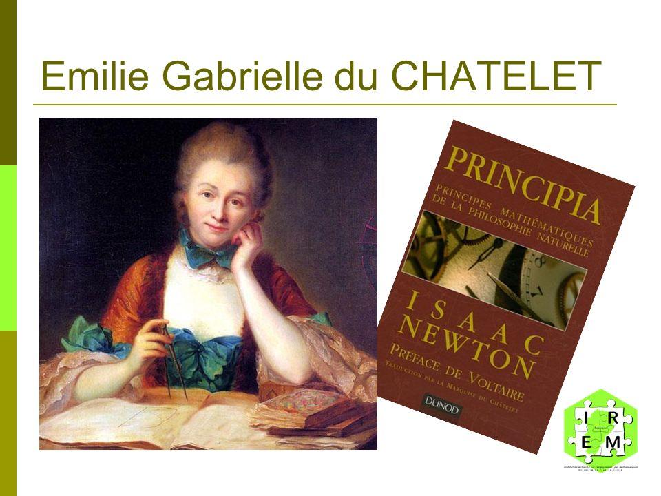 Emilie Gabrielle du CHATELET