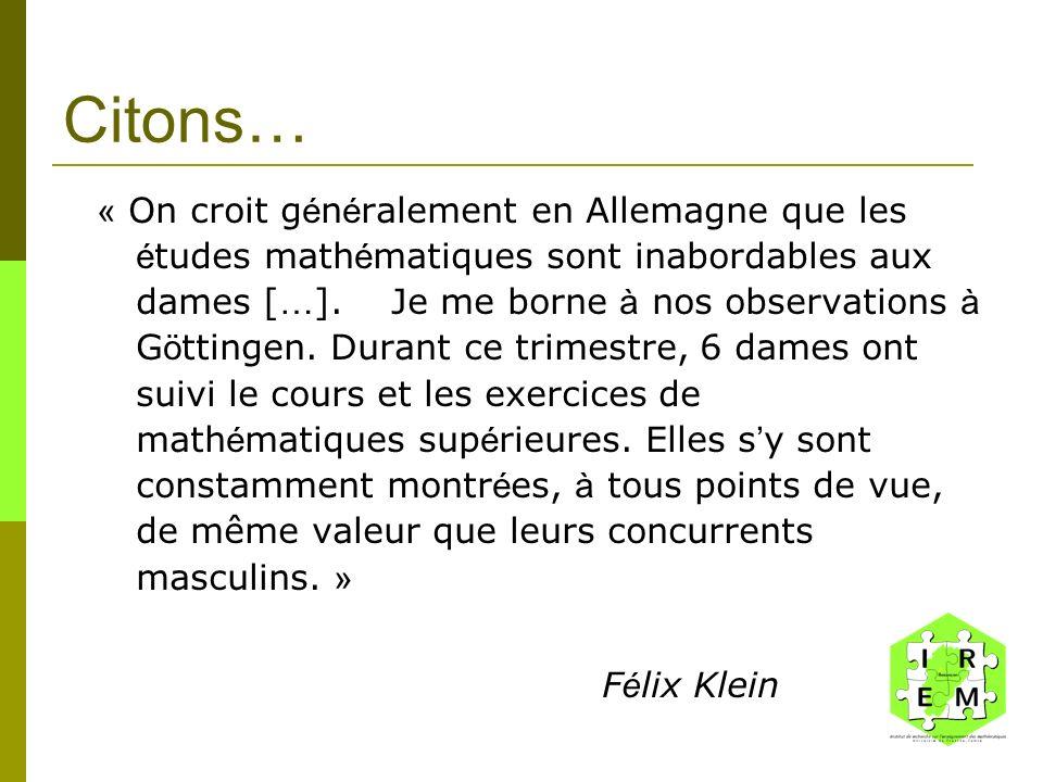 Paysage mathématique 100 000 mathématicien(nes)s dans le monde, dont 6000 en France En France : 2000 en entreprise privée 4000 dans le secteur public (90% denseignants, 10 % autres dont 355 au CNRS)