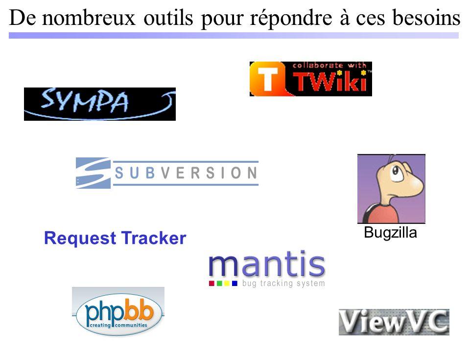 De nombreux outils pour répondre à ces besoins Request Tracker Bugzilla