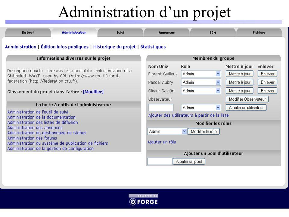 Administration dun projet