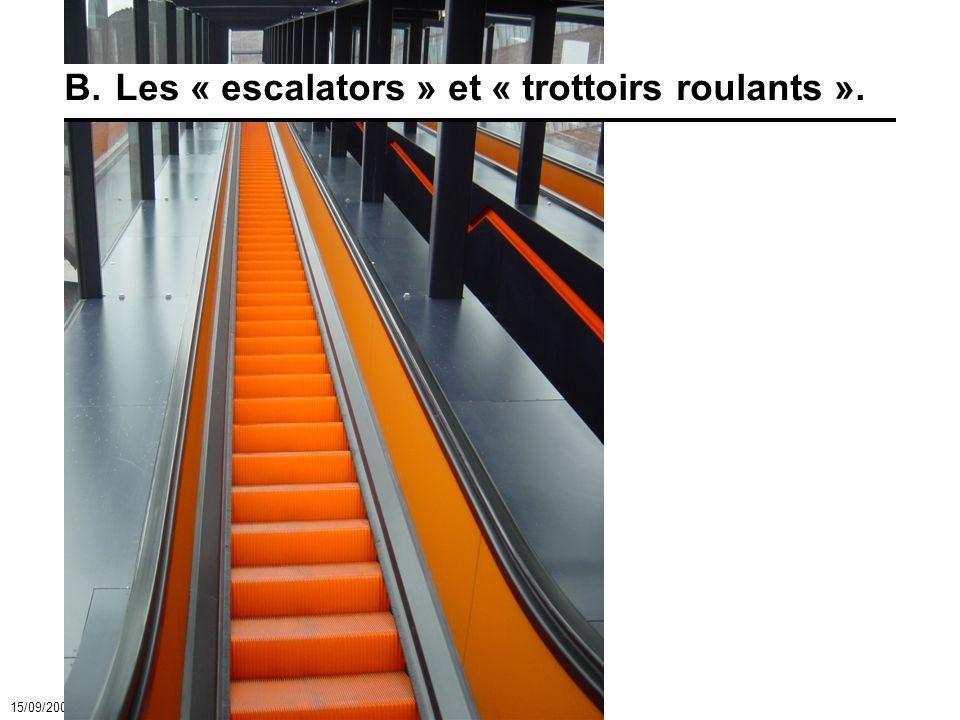 15/09/2007 - 23Moyens de levage - ascenseurs et escalators B.