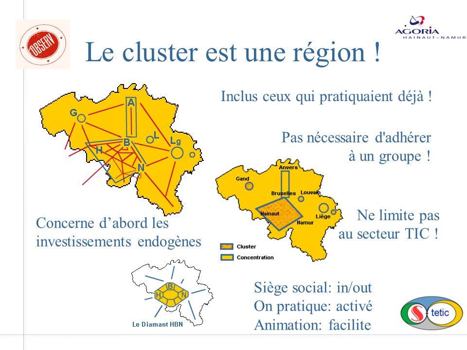 Le cluster est une région . Inclus ceux qui pratiquaient déjà .
