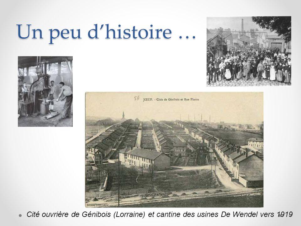 Un peu dhistoire … Cité ouvrière de Génibois (Lorraine) et cantine des usines De Wendel vers 1919