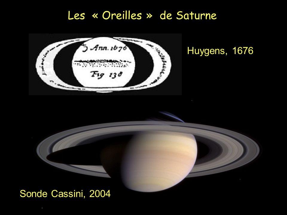 Sonde Cassini, 2004 Huygens, 1676 Les « Oreilles » de Saturne