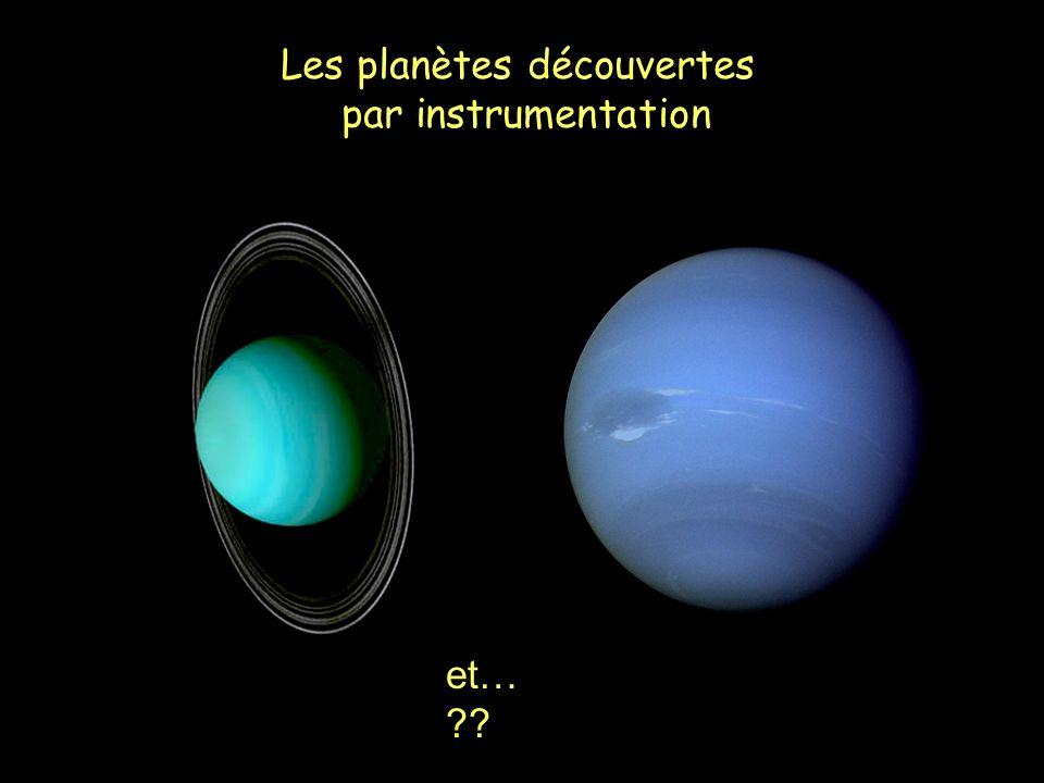 Les planètes découvertes par instrumentation et… ??