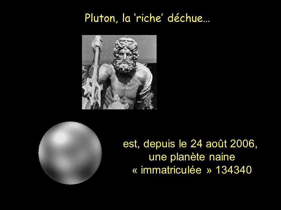 Pluton, la riche déchue… est, depuis le 24 août 2006, une planète naine « immatriculée » 134340