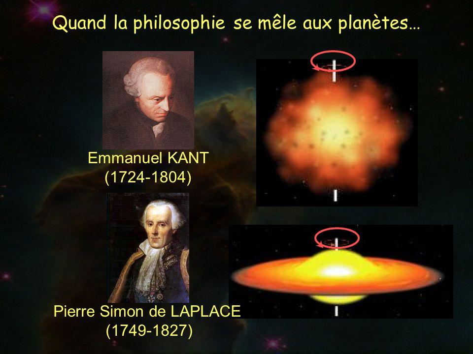 Emmanuel KANT (1724-1804) Pierre Simon de LAPLACE (1749-1827)