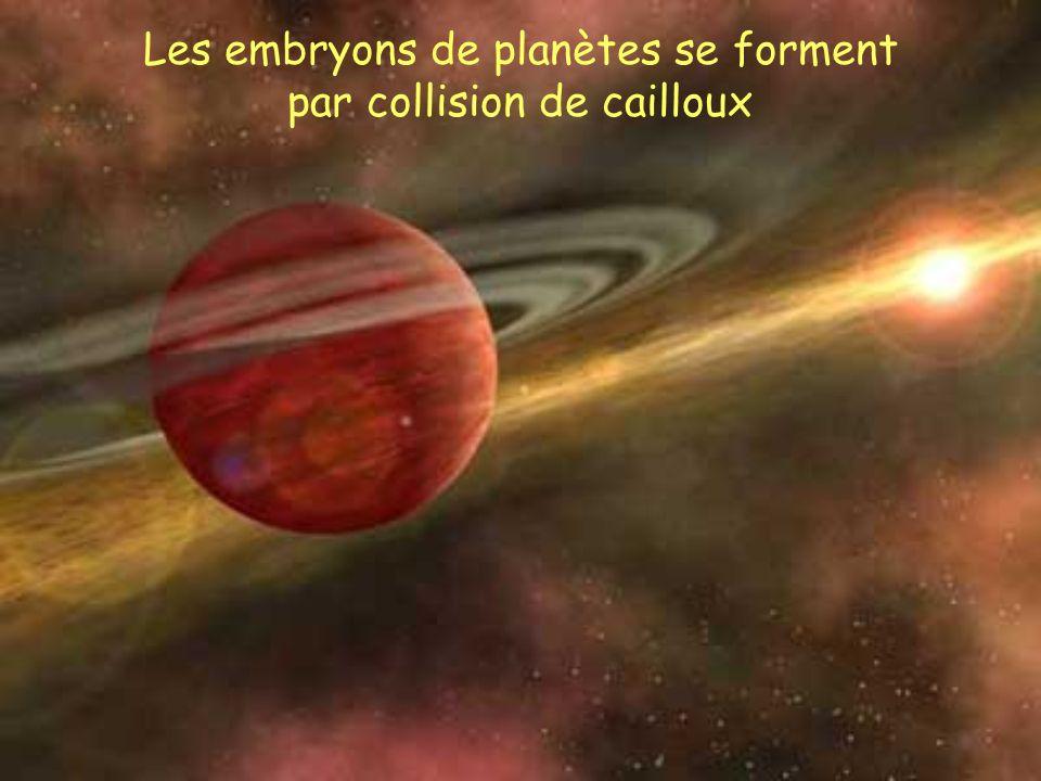Les embryons de planètes se forment par collision de cailloux
