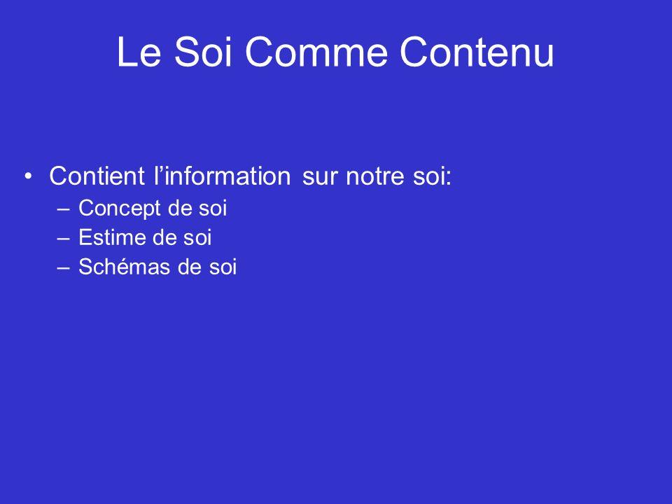 Les déterminants du soi 1.Sources interpersonnelles - Effet direct (p.ex.
