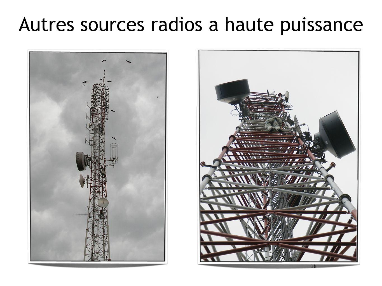 18 Autres sources radios a haute puissance