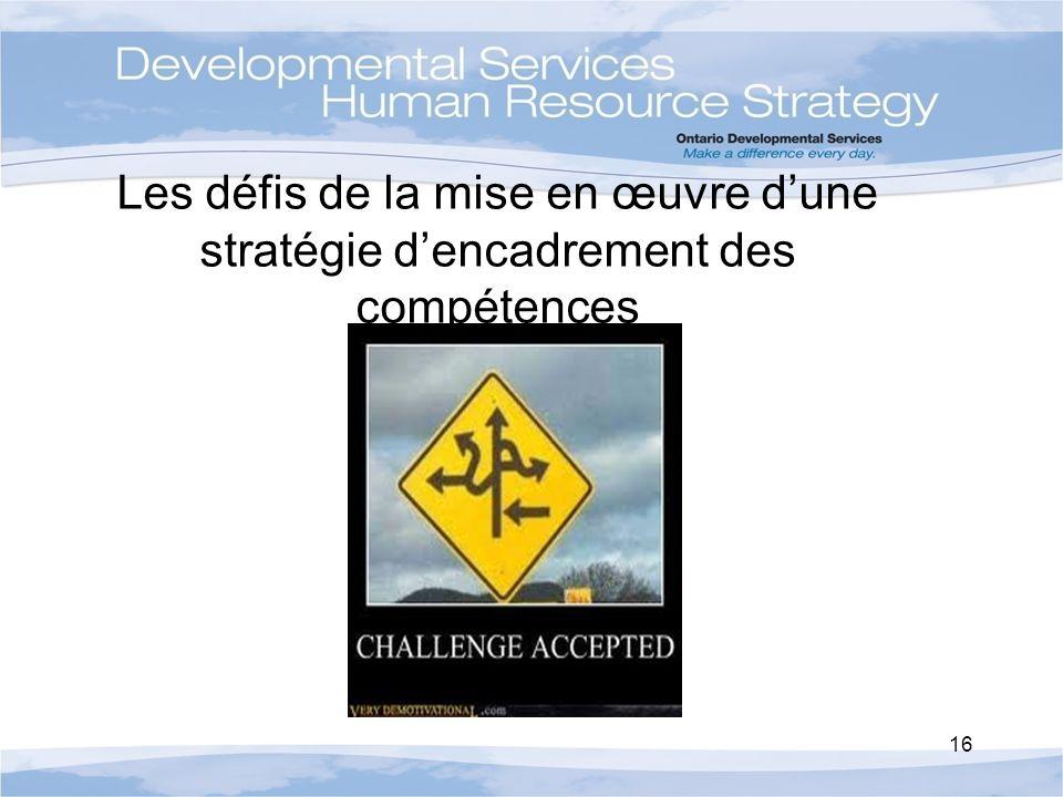 Les défis de la mise en œuvre dune stratégie dencadrement des compétences 16