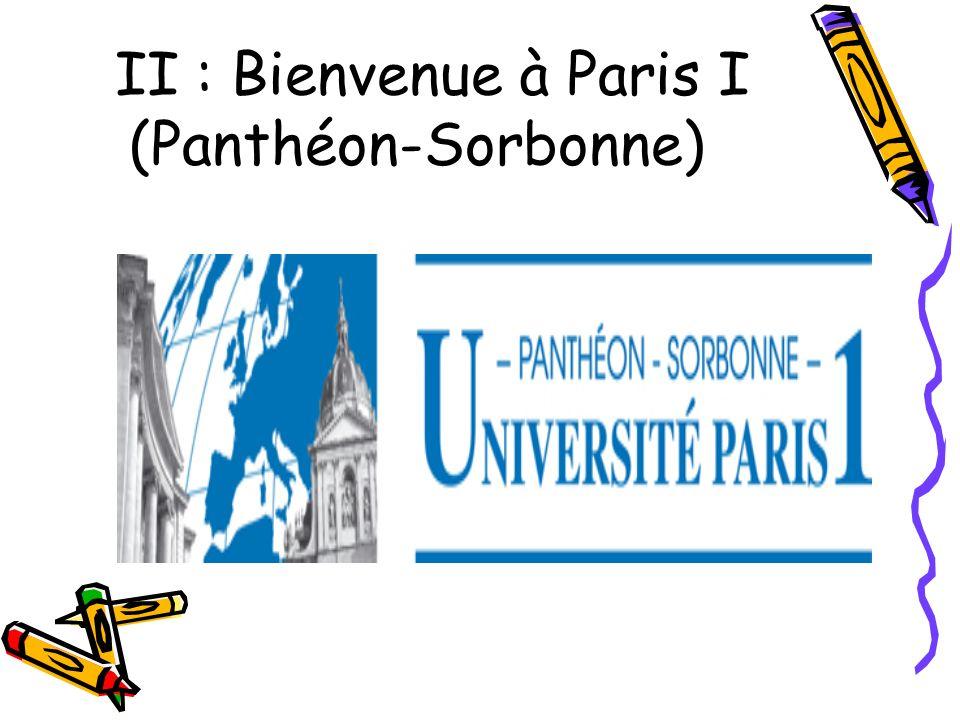 II : Bienvenue à Paris I (Panthéon-Sorbonne)
