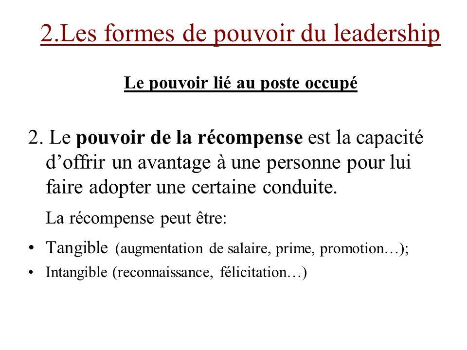 4.6 Les qualités dun manager – Leader efficace 1.Être visionnaire: Avoir le talent dattirer les gens autour de soi en créant une nouvelle vision des choses.