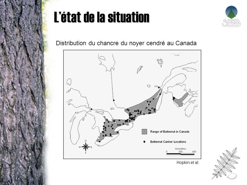 Quelques statistiques sur lévolution de la maladie Découvert en 1967, cest en 1973, le NOC est déclaré espèce menacée aux États-unis et en 2003 au Canada.