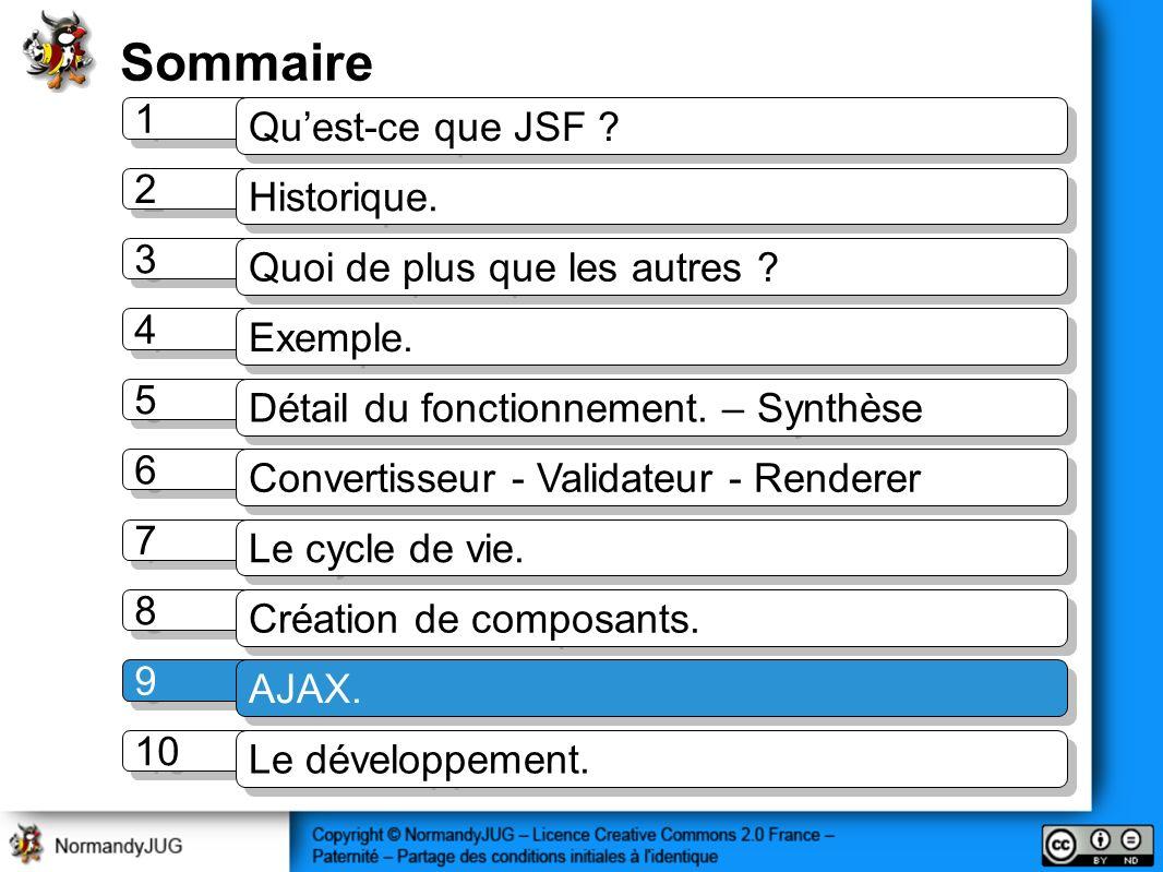 Sommaire 1 1 Quest-ce que JSF .2 2 Historique. 3 3 Quoi de plus que les autres .