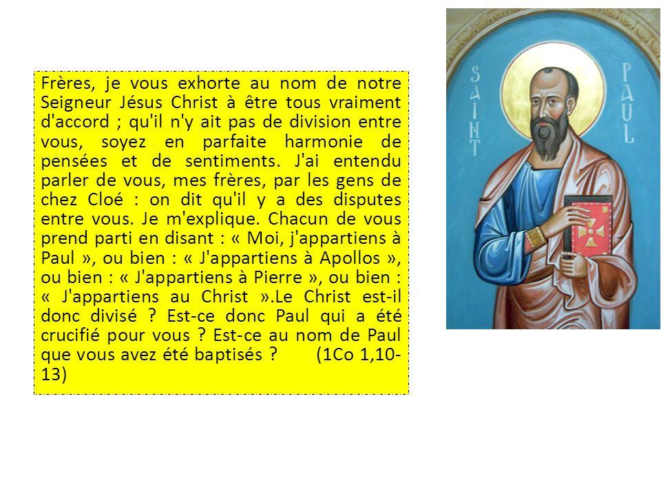 « Je désire demander spécialement aux chrétiens de toutes les communautés du monde un témoignage de communion fraternelle qui devienne attrayant et lumineux.