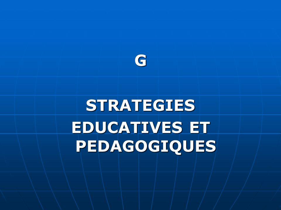 GSTRATEGIES EDUCATIVES ET PEDAGOGIQUES
