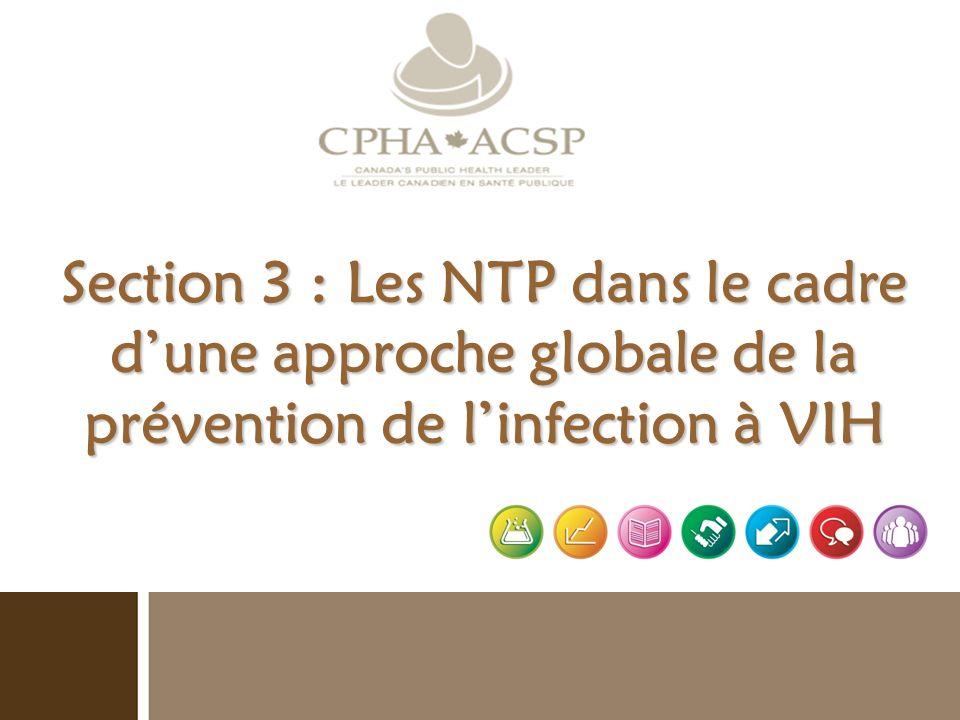Section 3 : Les NTP dans le cadre dune approche globale de la prévention de linfection à VIH