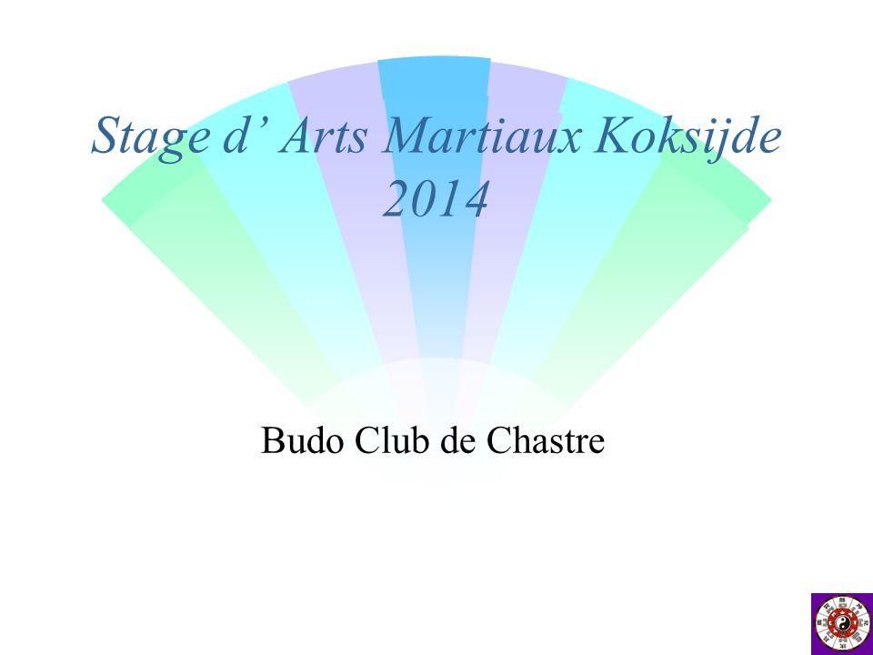 Stage d Arts Martiaux Koksijde 2014 Budo Club de Chastre