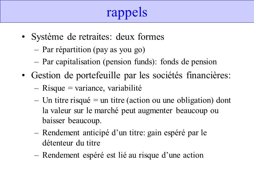 Prerequisits à la libéralisation financière 1.