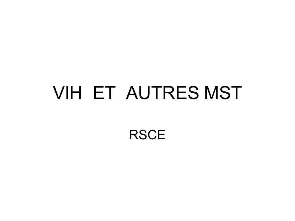 LES MST VIH HSV HVB HVC HPV Gonocoque Chlamydiae Syphilis Mycoplasme Autres MST