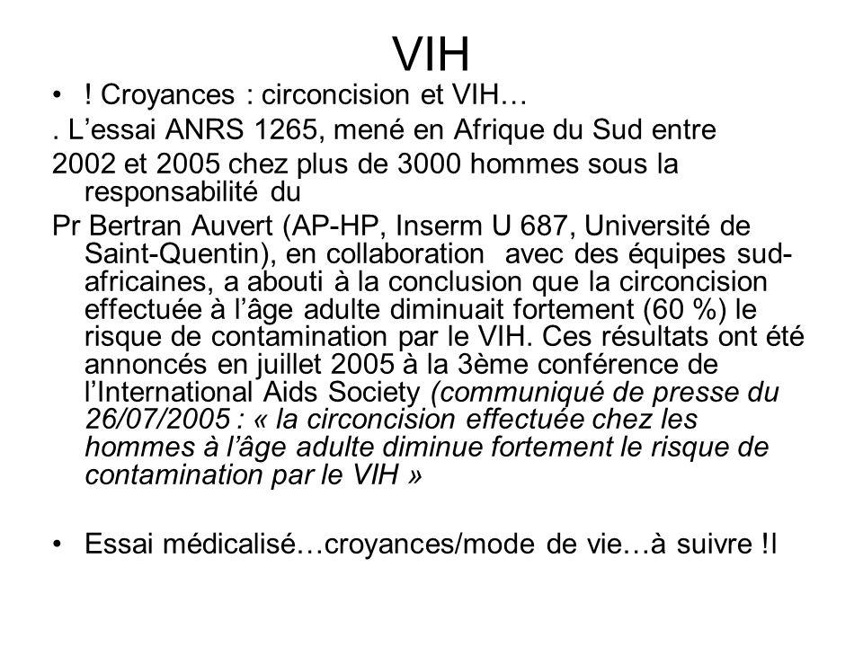 Croyances : circoncision et VIH….