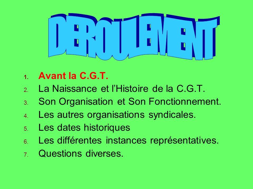 Les autres Organisations syndicales La C.F.T.C.= 2/11/1919 (9,7%).