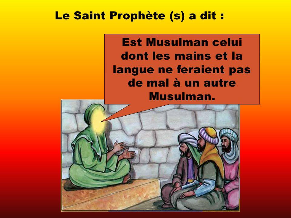 Le hadiçe ci-dessus nous apprend quun Musulman qui ferait du mal à un autre Musulman, physiquement (avec ses mains) ou émotionnellement (avec sa langue, avec ses propos), nest pas Musulman.
