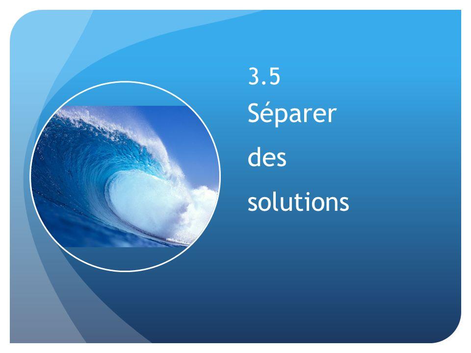 3.5 Séparer des solutions