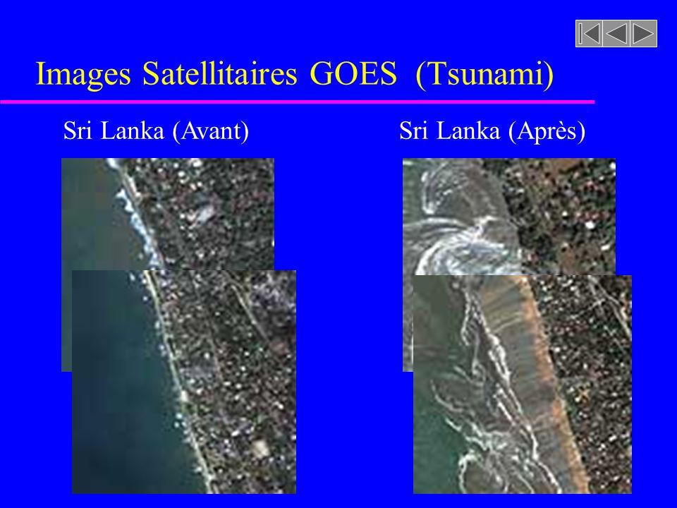 Images Satellitaires GOES (Tsunami) Sri Lanka (Avant)Sri Lanka (Après)