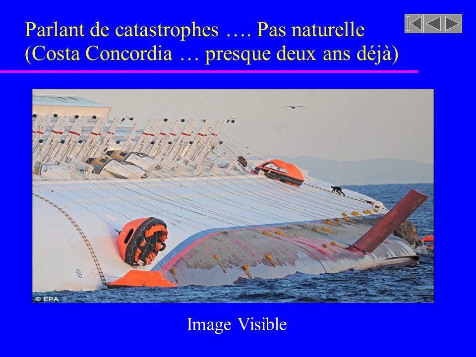Parlant de catastrophes …. Pas naturelle (Costa Concordia … presque deux ans déjà) Image Visible