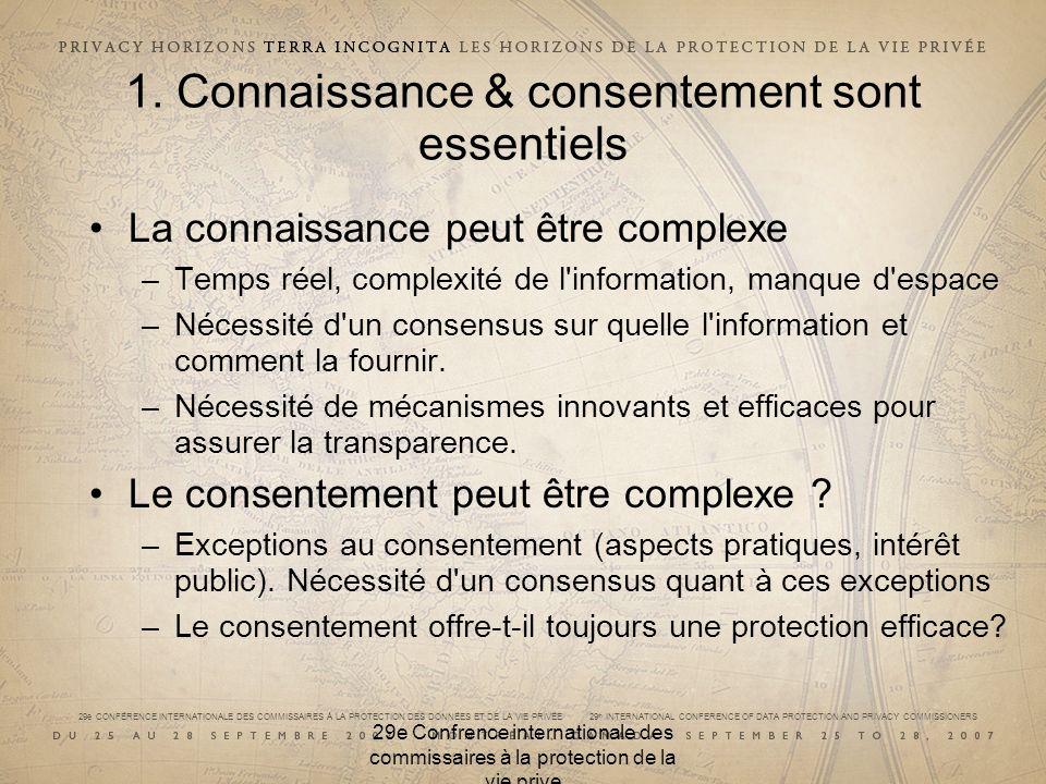 29e CONFÉRENCE INTERNATIONALE DES COMMISSAIRES À LA PROTECTION DES DONNÉES ET DE LA VIE PRIVÉE 29 th INTERNATIONAL CONFERENCE OF DATA PROTECTION AND PRIVACY COMMISSIONERS 1.