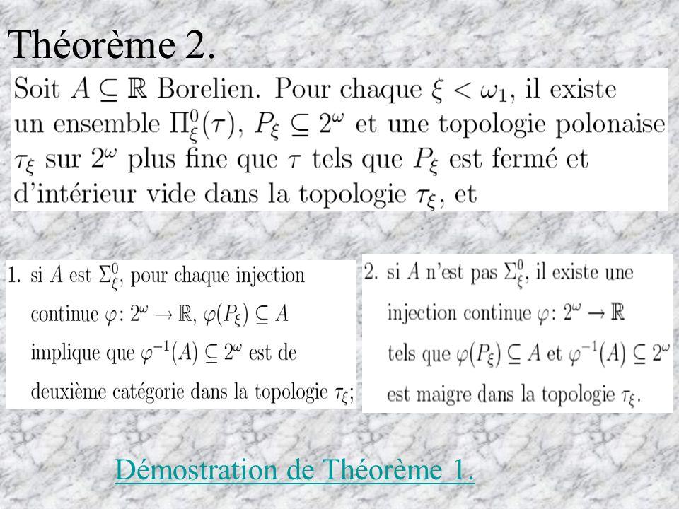 Théorème 3. (A. Louveau-J. Saint-Raymond)