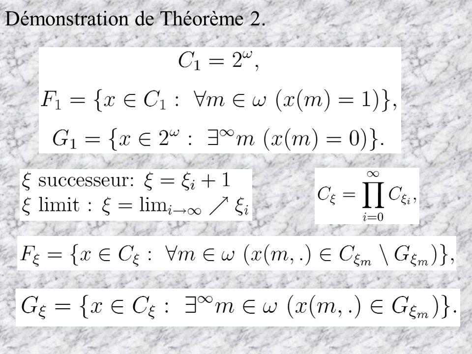 Théorème 2. Démostration de Théorème 1.